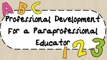 Paraeducator Professional Development