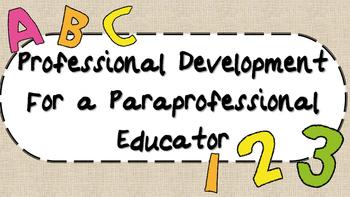Paraprofessional Professional Development