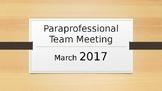 Paraprofessional Team Development