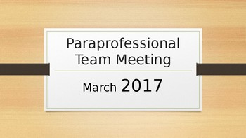 Paraprofessional Team Development