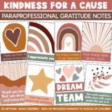 Paraprofessional + Team Gratitude Notes (100% for Charity!