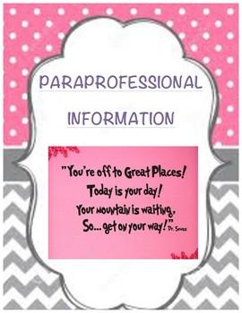 Paraprofessional Training