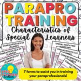 Paraprofessional Training-Characteristics of Learners