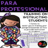 Paraprofessional Training-How to Instruct Students