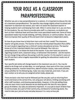 Paraprofessional Training Manual