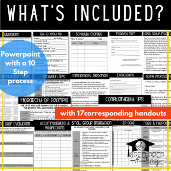Paraprofessional Training Powerpoint & Handouts