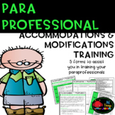 Paraprofessional Training on Accommodations and Modifications