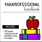 Paraprofessional's Handbook- A Training Manual