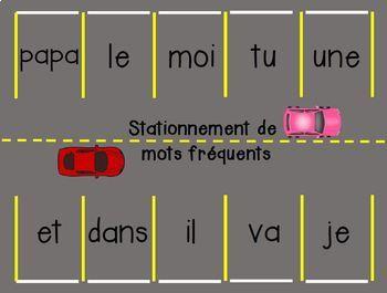 Parc de Stationnement de Mots Fréquents/French Sight Word Parking Lot