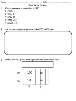 Parcc-like Divide Whole Numbers