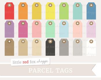 Parcel Tag Clipart; Gift Tag, Hang Tag, Label
