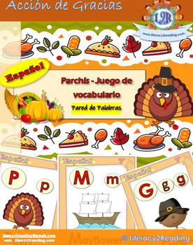Parchis de Acción de Gracias - Thanksgiving ABC board game