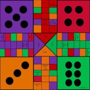 Parchisi Game Board Multi Subject