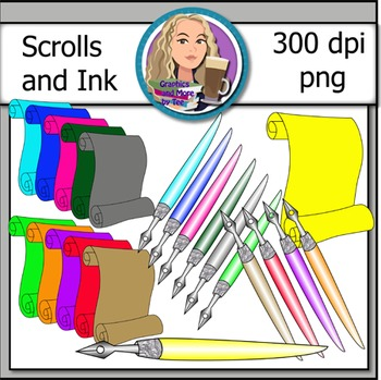 Scroll and Ink Clipart