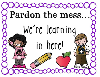 Pardon the Mess Poster