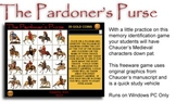 Pardoner's Purse Chaucer Game of Matching