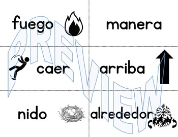 Pared de palabras (Spanish Word Wall) 2nd Grade Unit 1