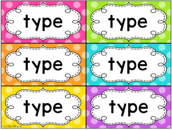 Pared de palabras / EDITABLE Spanish Word Wall Cards (Polka Dots)