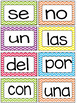 Pared de palabras- Word Wall - High Frequency Words in Spanish