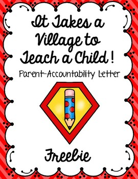 Parent-Accountability Letter Freebie