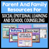 Parent And Family Resources Bundle For School Counseling B