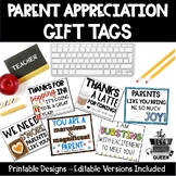 Parent Appreciation Gift Tags Open House