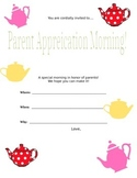 Parent Appreciation form