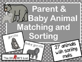 Parent & Baby Animal Matching and Sorting with SymbolStix