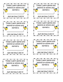 Parent Behavior Notes