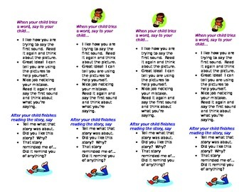 Parent Bookmark: How to Help Your Child Read