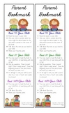 Parent Bookmark: Tips and Strategies While Reading With Your Child
