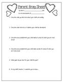 Parent Brag Sheet Form
