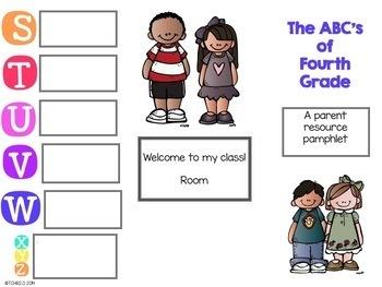 Parent Brochure Fourth Grade