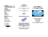 Parent Brochure for Open House / Curriculum Night (Civics)