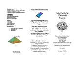 Parent Brochure for Open House / Curriculum Night (Math)