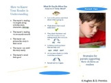 Parent Brochure for helping children as readers