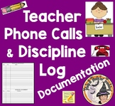 Telephone Calls Documentation Discipline Log for Teachers Phone Calling Parents