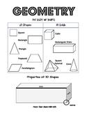 Parent Cheat Sheet-- Basic Geometry
