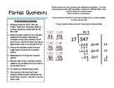 Parent Cheat Sheet--Partial Quotients