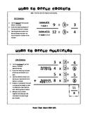 Parent Cheat Sheets--Factors and Multiples