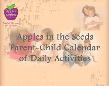 Parent-Child Calendar of Daily Activities