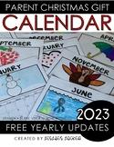 Parent Christmas Gift {2021 Calendar}