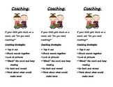 Parent Coaching Bookmarks for Reading