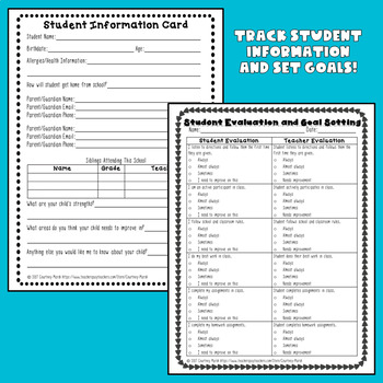 Forms and Letters for Parent Communication