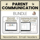 Parent Communication BUNDLE | Digital Newsletter Templates