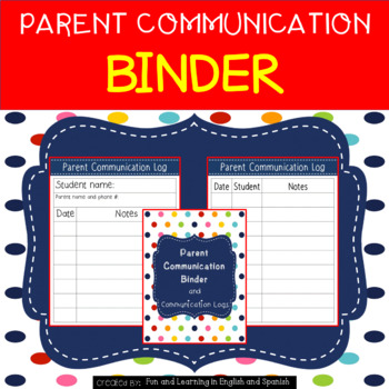 Parent Communication Binder