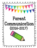 Parent Communication Binder(Editable according to year)