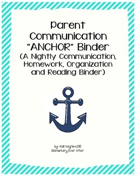 Parent Communication Binder Cover
