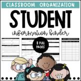 Parent Contact Binder - EDITABLE