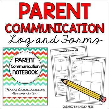 Parent Communication Binder - Editable